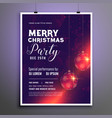 merry christmas party celebration flyer design vector image vector image