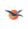modern egret logo design vector image