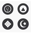 modern eid mubarak icons set vector image vector image