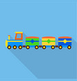 modern train toy icon flat style vector image