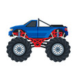 monster truck vehicle pickup car with large tires vector image vector image