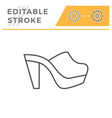 mule shoe editable stroke line outline icon vector image vector image