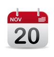 nov calendar stand up vector image