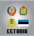 official government elements of estonia vector image vector image