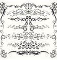 ornamental borders vector image vector image