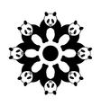 panda in circle vector image vector image