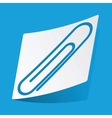 Paperclip sticker vector image vector image
