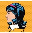 Pop art design of woman cartoon