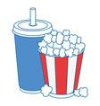 popcorn soda glass vector image
