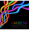Rainbow Twisted Bright Vibrant Wares on black back vector image