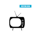 retro tv icon isolated on white background vector image vector image
