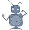 Robot Clock vector image vector image