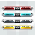 scoreboard element sports design vector image vector image
