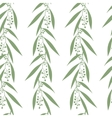 Seamless pattern branches of eucalyptus vector image vector image