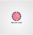Secure logo icon element and template for company