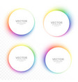 set colorful blurry circle banners vector image vector image
