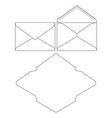 set of blank envelopes envelope template vector image
