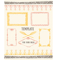 Set of frames with place for your text vector image vector image