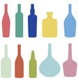 set wine bottles vector image