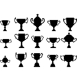 Silhouettes of trophies - vector image