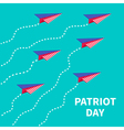 Six planes Patriot day Flat vector image vector image