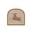 Stag Deer Looking Up Jumping Cartoon vector image vector image