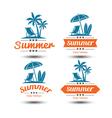 Summer label vector image vector image