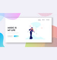 talented artist performing on scene website vector image vector image