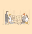 teamwork brainstorming meeting concept vector image