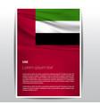 uae flag design vector image