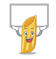 up board penne pasta character cartoon vector image vector image