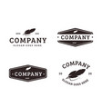 vintage old quill feather pen logo icon template vector image vector image