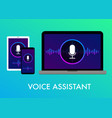 voice assistant flat voice search icon vector image vector image