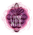 wine grapes doodle round icon vector image vector image