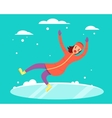 Woman slipped vector image