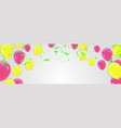 yellow pink rose gold and gold circles on white vector image