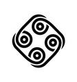 abstract tribal style black logo vector image