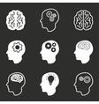 Brain icon set vector image