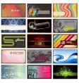 set of horizontal business cards vector image