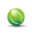 World of leaves logo vector image