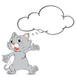 Thinking cat vector image