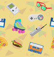 90s themed pattern vector image vector image