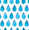 Abstract background drops of water seamless vector image vector image