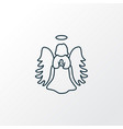 angel icon line symbol premium quality isolated vector image