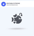 anglerfish icon filled flat sign solid vector image vector image