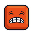 angry face emoji character vector image