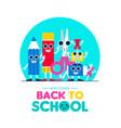 back to school fun art supplies friends design vector image
