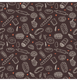 bakery seamless pattern Hand drawn collection vector image vector image