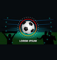 banner on a dark background the soccer ball in vector image vector image