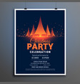 beautiful christmas party celebration flyer vector image